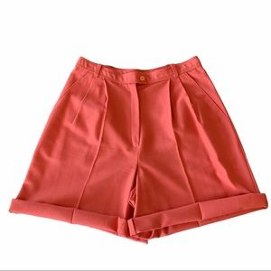 Vintage high rise classic trouser mom shorts